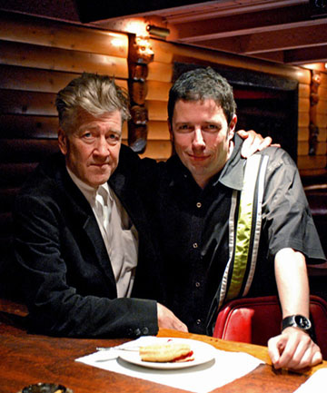 David Lynch and DVD Producer Charles de Lauzirika. Photo by Renard Garr.